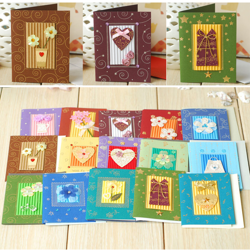 Handmade Greeting Cards For Christmasvalentinekids Birthday Gift