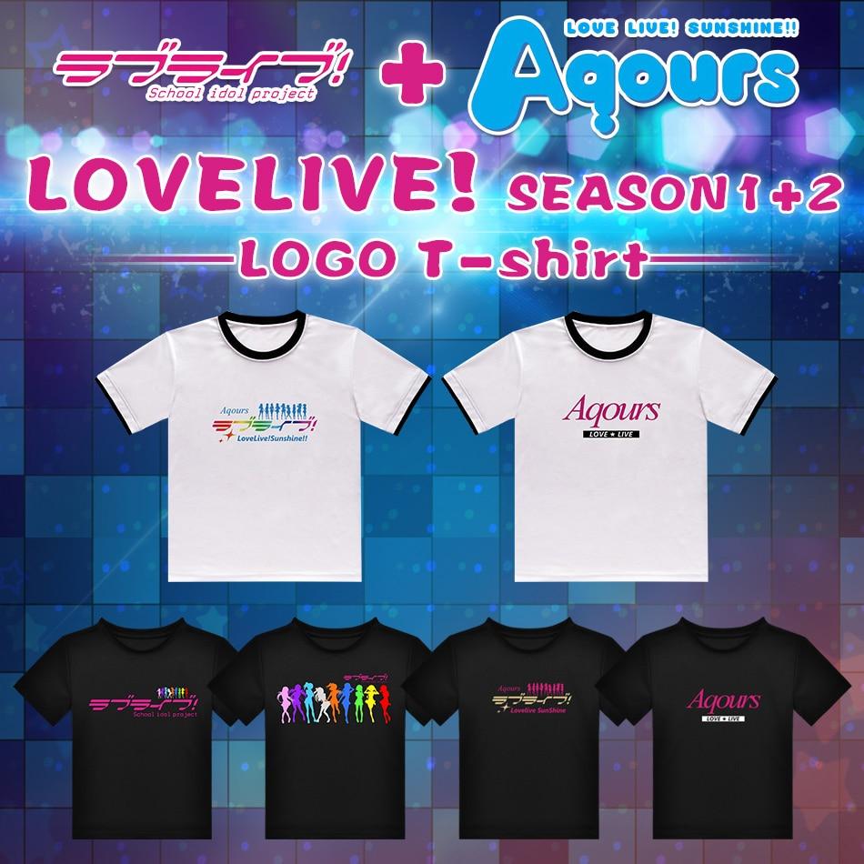 애니메이션 사랑 라이브! 햇빛!! 티셔츠 니코 코토 리 호노 카 마키 학교 아이돌 프로젝트 폴리 에스테르 티셔츠 여름 액티브 티셔츠