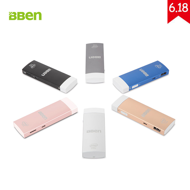 BBen MN1S Mini PC Windows 10 & Android 5.1 Intel Z8350 Quad Core 2GB RAM Mute Fan USB3.0 Dual WiFi BT4.0 Mobile PC Stick hot bben mn1s mini pc stick windows 10