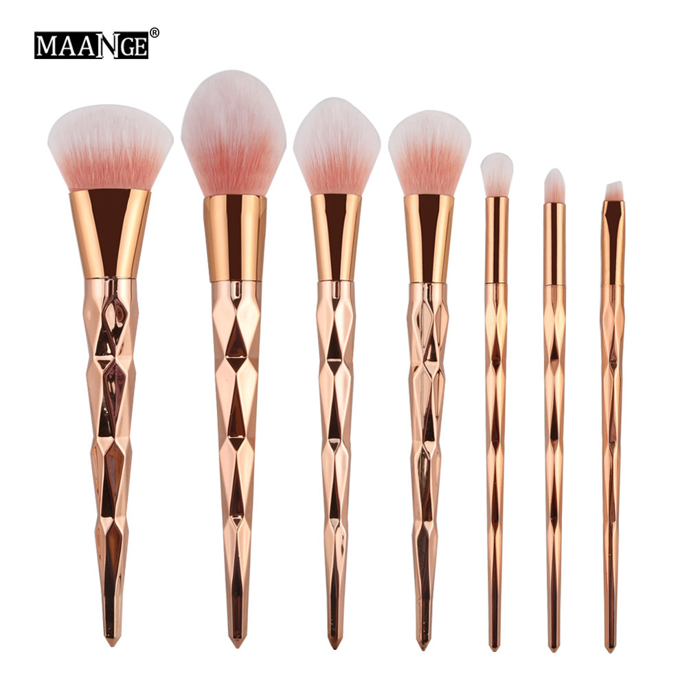 MAANGE 7-10Pcs Beauty Makeup Brushes Powder Foundation Eyeshadow Eyeliner Blush Brush Cosmetics Make Up Brushes Face Maquiagem