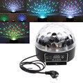 Música rgb mini led de cristal magic ball stage efeito de iluminação dj Disco Club Party Stage Bulb Spot Lâmpadas DMX512 com controle de voz