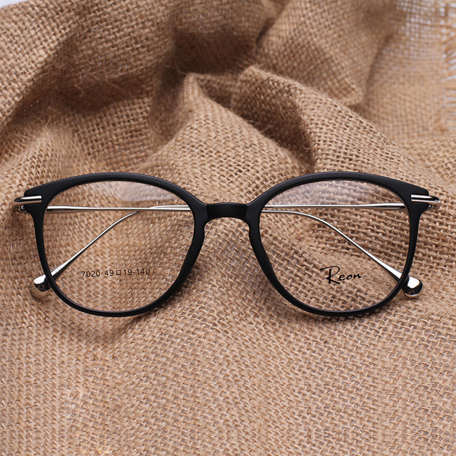 Tr 90 rodada Eye Glasses Vintage prescrição óculos de armação mulheres e homens