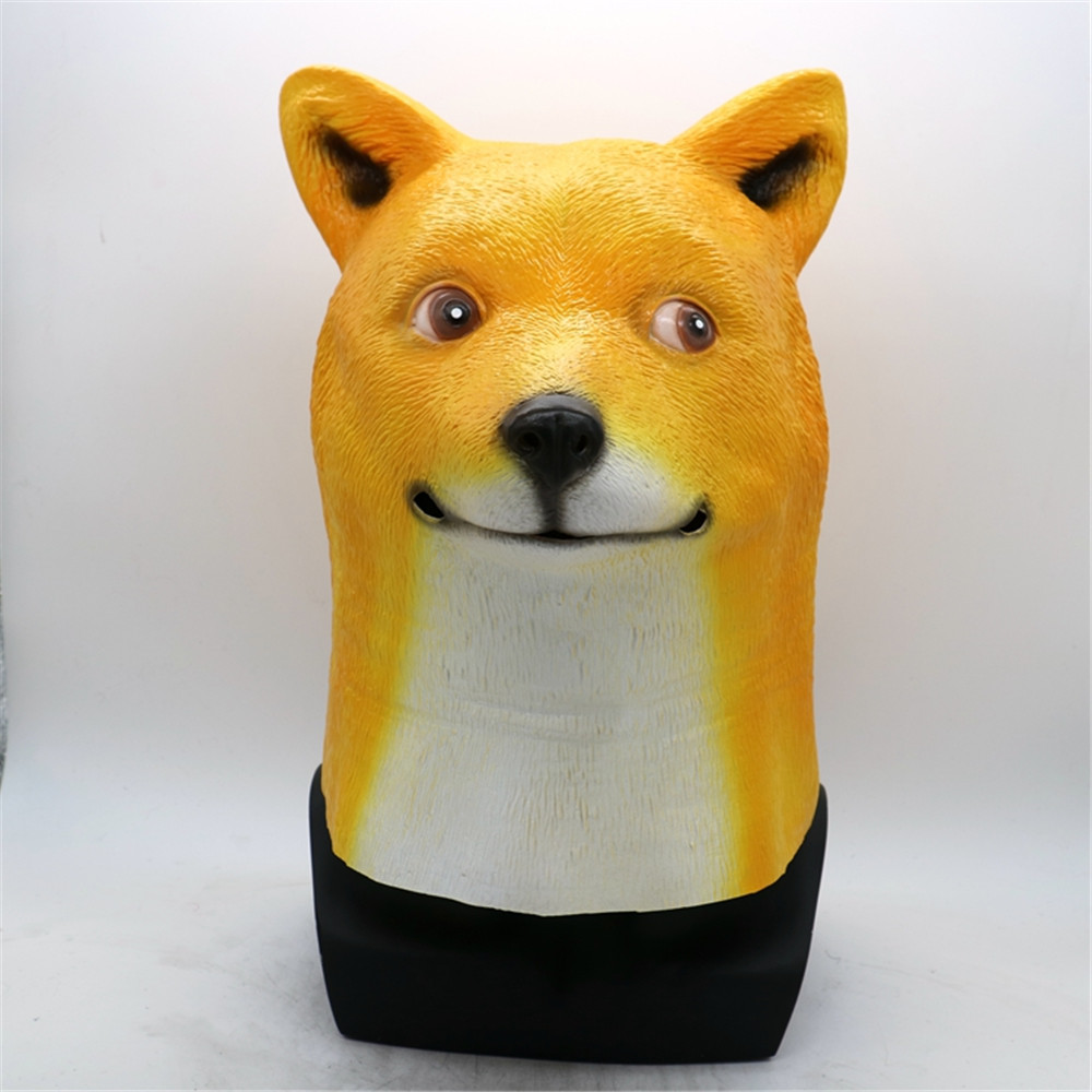 Shiba Inu Dog  Akita dog Animal Head Full Face Mask Halloween Party Festival Cospaly Costume Supplies Mask Dog Head Party Mask