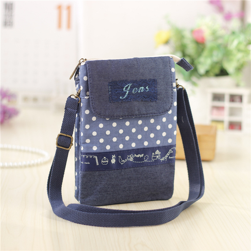 Cotton & denim womens coin purse small money wallet bag female phone pouch carteira bolso bolsa feminina for girls boys