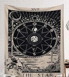 Image 5 - CAMMITEVER Power God Tapestry High Quality Fabric Wall Carpet Table Cloth Beach Cloth Dark Constellation Shawl/Blanket