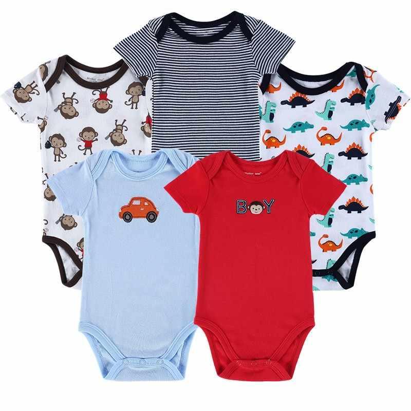 5 sztuk/partia matka gniazdo dla dzieci piżamy noworodka śpioszki dla niemowląt dla niemowląt bawełna odzież z krótkim rękawem chłopiec dziewczyna nosić ogólnie rzecz biorąc