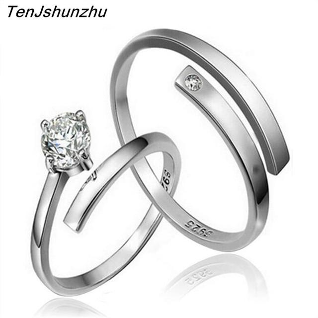 TenJshunzhu 2017 Fashion Couple Wedding Ring AAA Grade Crystal Set For Men Women Jz172
