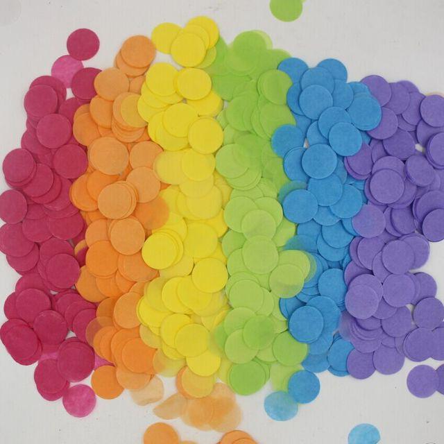 50g Rainbow Theme Party Decorations Rainbow confetti colourful