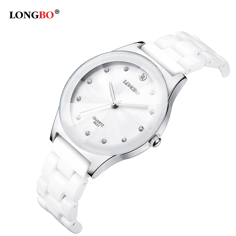 Classic Luxury Diamond Crystal Sapphire Ceramic Watches Women LONGBO Female Fashion Ladies Waterproof Quartz Watch Clock 8631