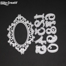 Glita Creatif Frame number cutting Dies Scrapbooking Stamps Making Embossing stencil new craft dies and stamps for cards