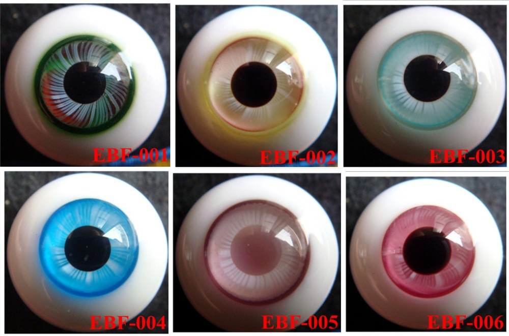 EBF Hand made BJD Doll Glass eye YOSD MSD SD doll eyes fit for all doll ,Factory sale directly Free shipping uncle 1 3 1 4 1 6 doll accessories for bjd sd bjd eyelashes for doll 1 pair tx 03