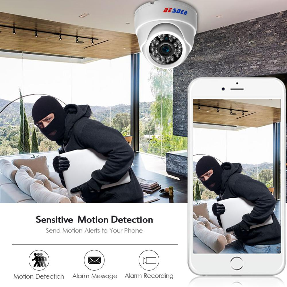 Image 5 - BESDER 2.8MM Wide Angle IP Camera 720P/1080P P2P H.264 Onvif Small CCTV Indoor Dome Surveillance Video Camera RTSP 48V POE XMEye-in Surveillance Cameras from Security & Protection