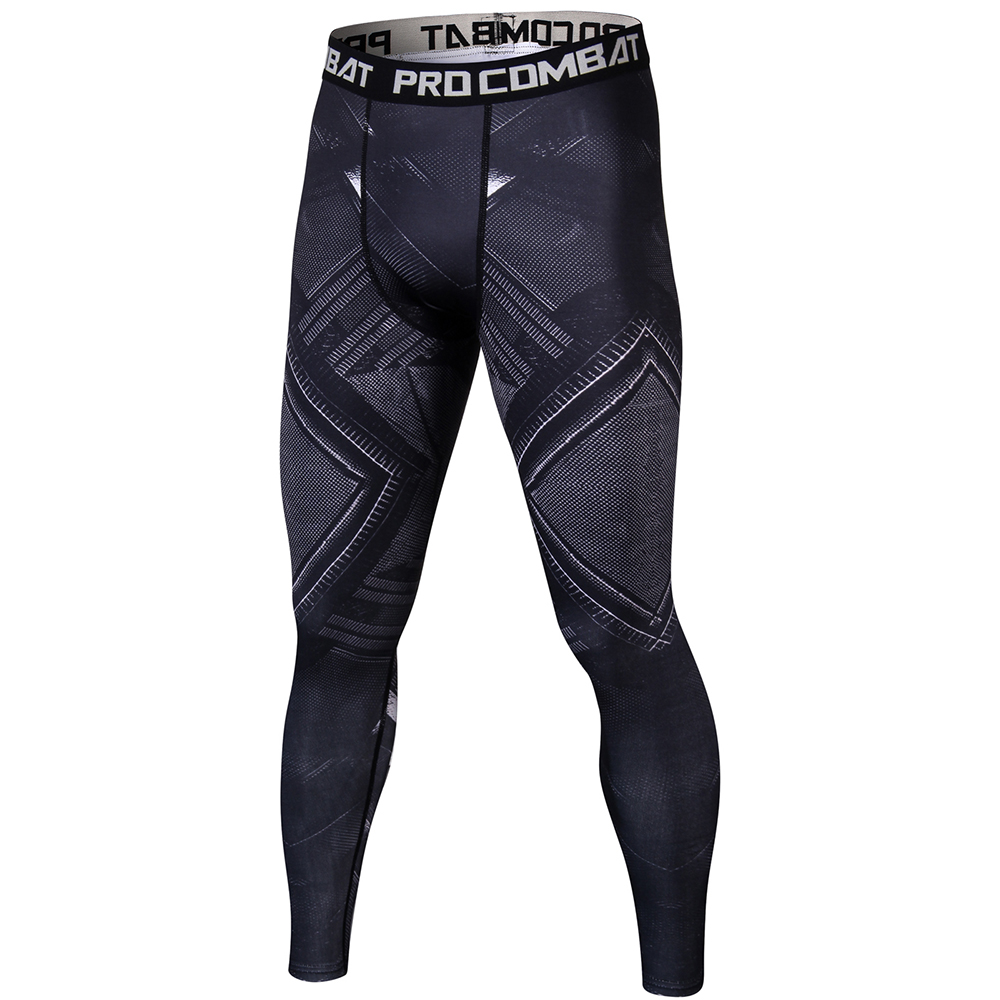 Black Panther 3D Mens Workout Fitness Leggings Elastic Pants Bottom Weight Lifting Bodybuilding Leggin Male SkinTrouser