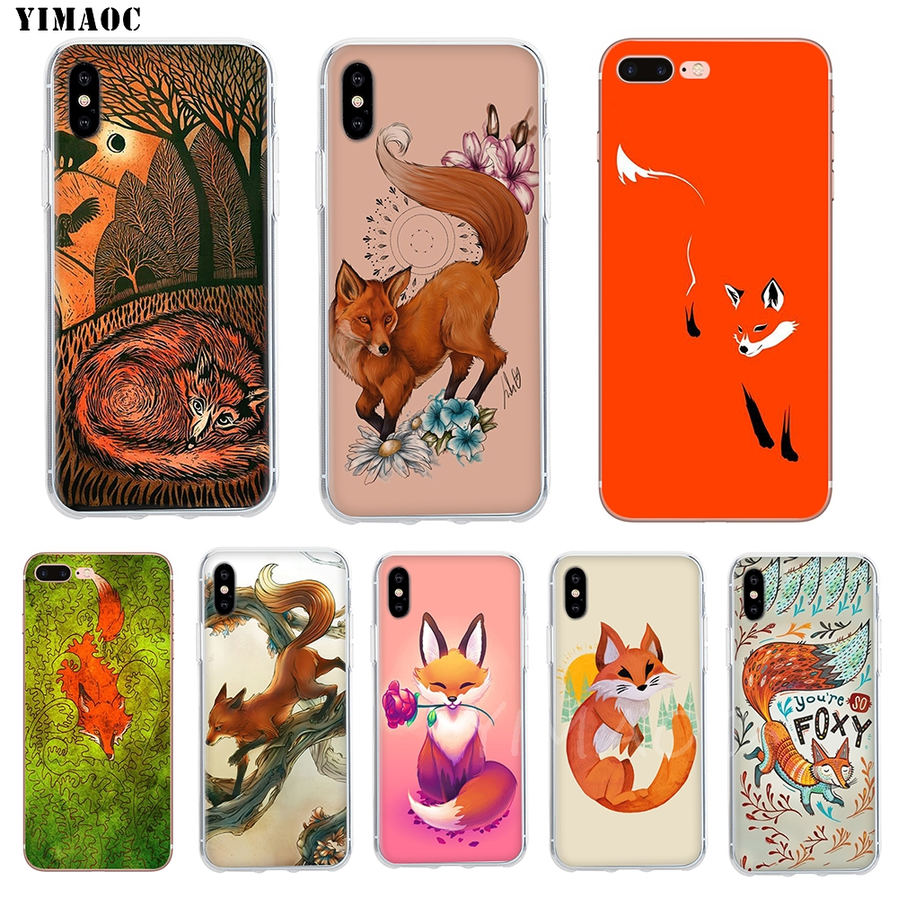 YIMAOC Youre So Foxy <font><b>Fox</b></font> Kunst Füchse Serie Weiche Fall TPU Abdeckung für <font><b>iPhone</b></font> 8 7 6 <font><b>6S</b></font> Plus 5 5S SE X XR XS 11 Pro Max Fall image