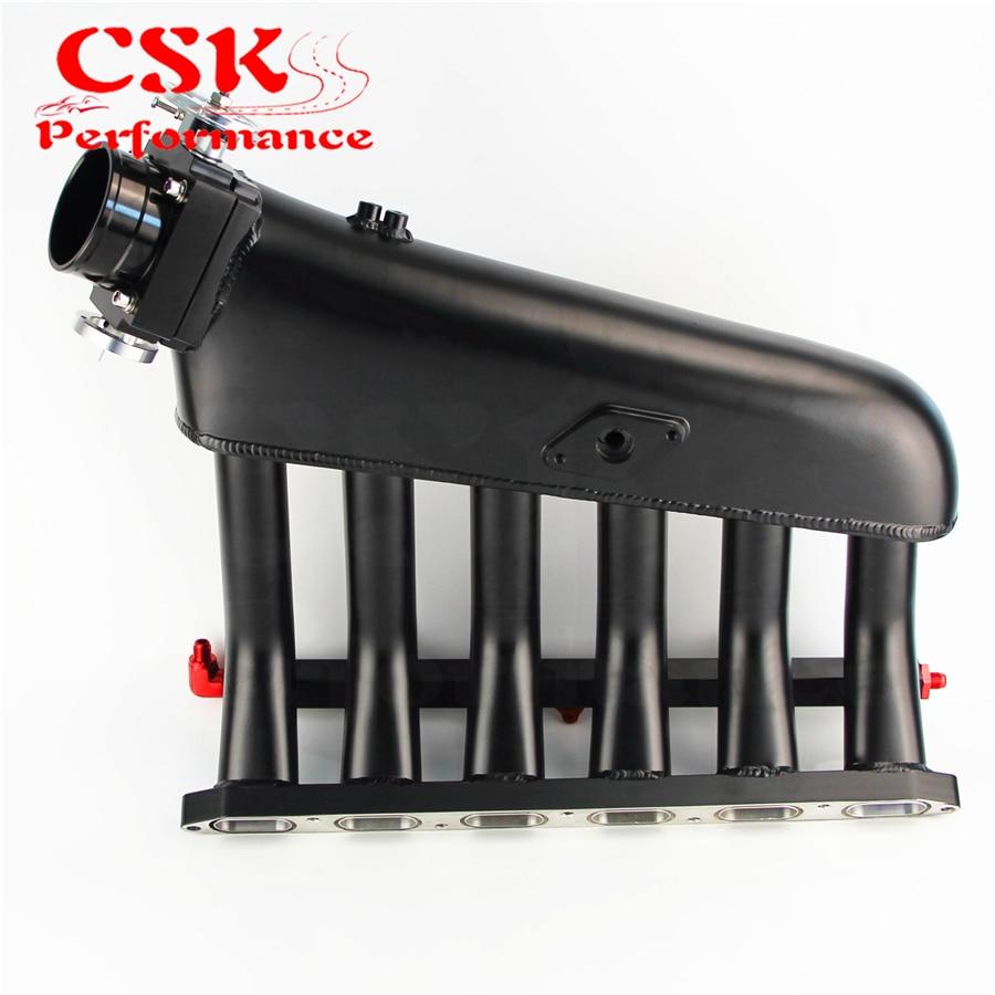 Image 3 - Czarny kolektora dolotowego + korpus przepustnicy + magistrala paliwowa zestawy pasuje do BMW E36 E46 M50 M52 M54 325i 328i 323i M3 Z3 E39 528iKolektor dolotowy   -