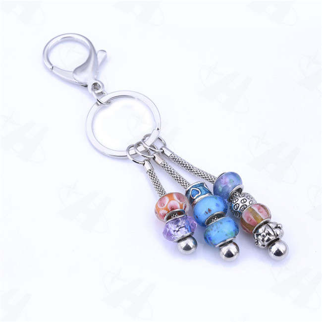 Lower price european beads charm pendant keychaincolorful round lower price european beads charm pendant keychaincolorful round glass bead trinket key chains keyring keyholder llaveros in key chains from jewelry aloadofball Gallery