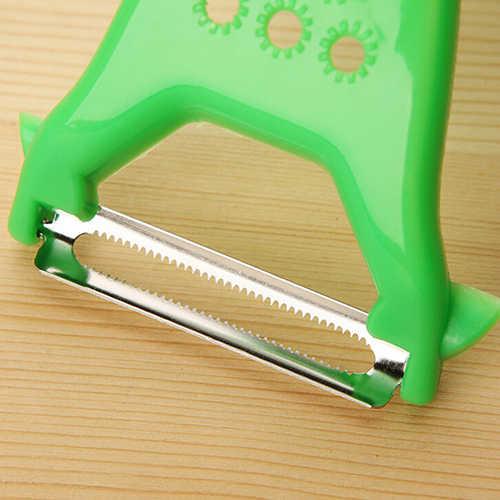 Два лезвия очиститель для овощей и фруктов из нержавеющей стали нож для нарезания соломкой кухонный инструмент!