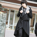 2017 Harajuku Brand Gothic fashion Wool Mens long Coat Stage design trench coat men winter jacket overcoa men's clothing Peacoat