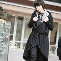2017 Marca Harajuku Gótico moda escenografía de Lana Para Hombre Abrigo largo trench coat hombres chaqueta de invierno ropa overcoa Peacoat
