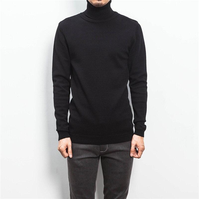 ZhenZhou Solide Slim Fit Pullover Männer Strickwaren Herren Pullover - Herrenbekleidung - Foto 6