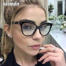 dcaf461cc Moda Olho de Gato óculos de Armação de óculos Mulheres Óculos Computador  Óptico Para Feminino Óculos de Lente Clara Do Vintage Ó..