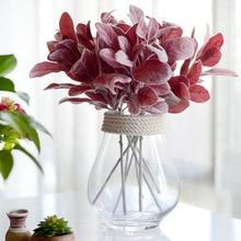 ФОТО floace christmas artificial plant flocking leaf background decoration flower arranging accessories fake leaf