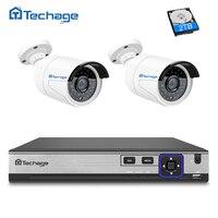 4CH 48V POE NVR DVR H 265 CCTV System 2PCS 4MP POE IP Camera 2592 1520