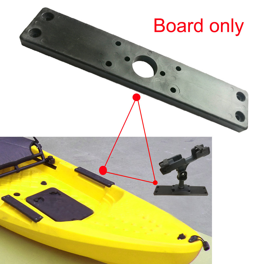 11.1 Inch Kayak Canoe Fishing Rod Holder Base Board Rowing Boat Fishing Mount Bracket Base Longboard Side Carry Handle