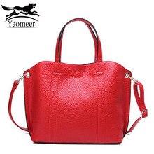 Lujo Genuino de Las Mujeres de Cuero Bolsa de Hombro Bolsas de Mensajero Bolsos de Diseño Femenino Rojo Establece Sólido Blando Compuesto Bolsa de Embrague