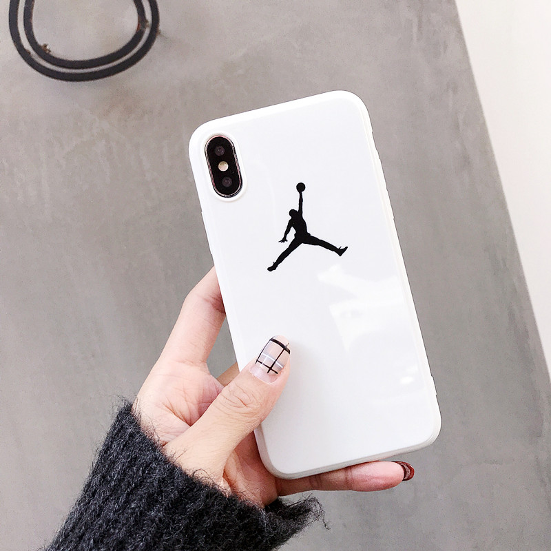 Air 23 Flyman Jordan Case For iPhone X Xs Max Xr 8 7 6 6s Plus 10 Luxury Sports Simple Glossy Soft TPU Silicon Phone Cover Coque