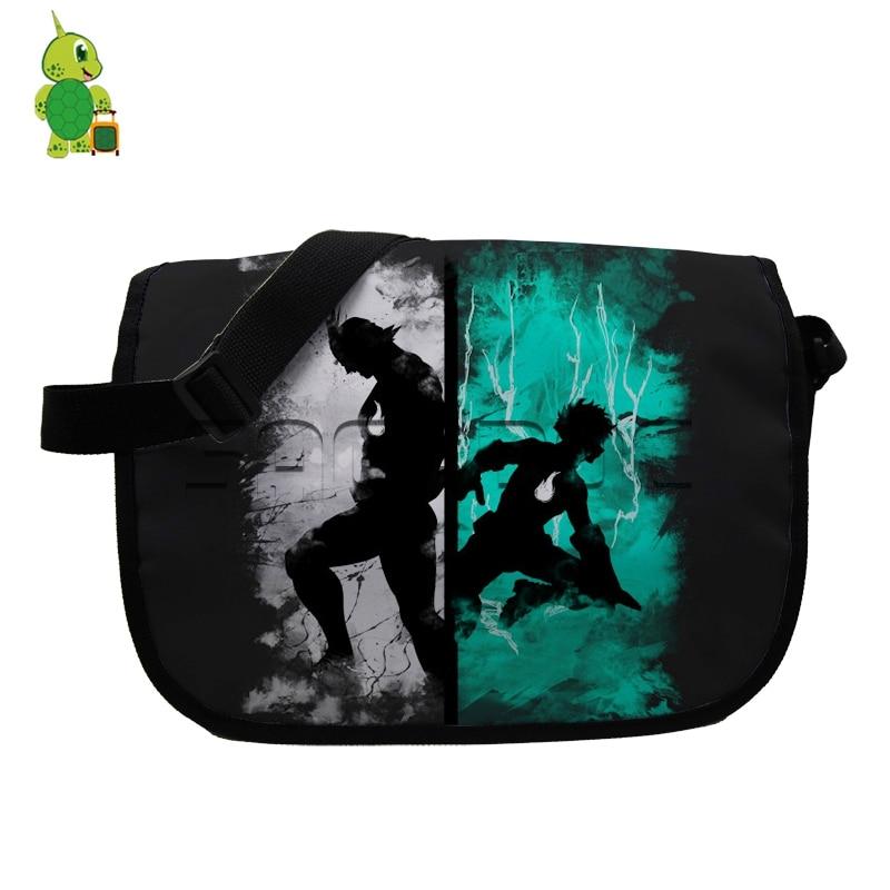 Anime Boku No Hero Academia Messenger Bags Deku Allmight One for All School Handbag for Teenagers Crossbody Shoulder Bags
