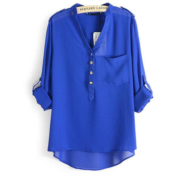 841e82ecc1dd Blusa feminina branco azul camisa camisa feminina plus size mujer ...