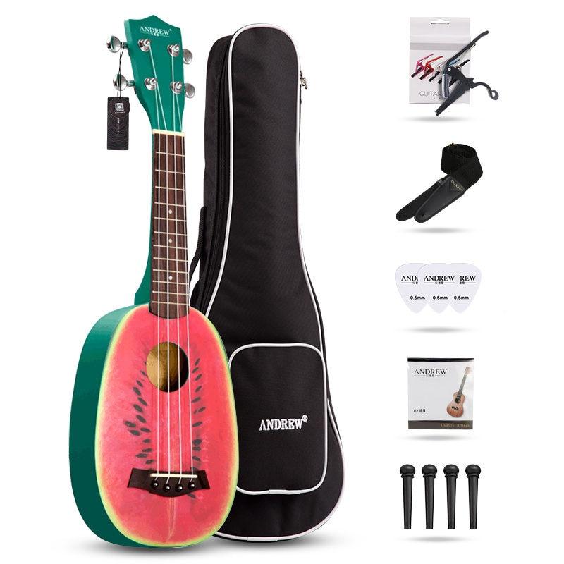 Укулеле комбо 23 укулеле черный сопрано 4 струны Уке Гавайи Бас Струнный комплект музыкальных инструментов наборы + струна + ремень + сумка