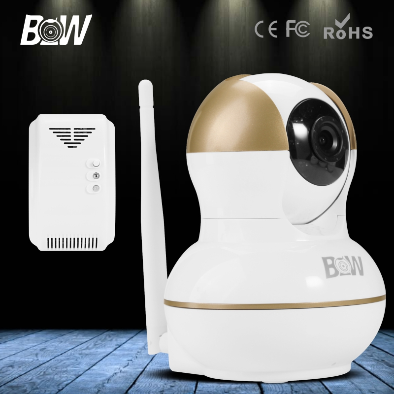 ФОТО Onvif 720P Wireless HD CCTV IP Camera Wifi 3.6mm Endoscope Baby Monitor Security Camera P2P P/T IR-Cut Gas Detector Auto Alarm