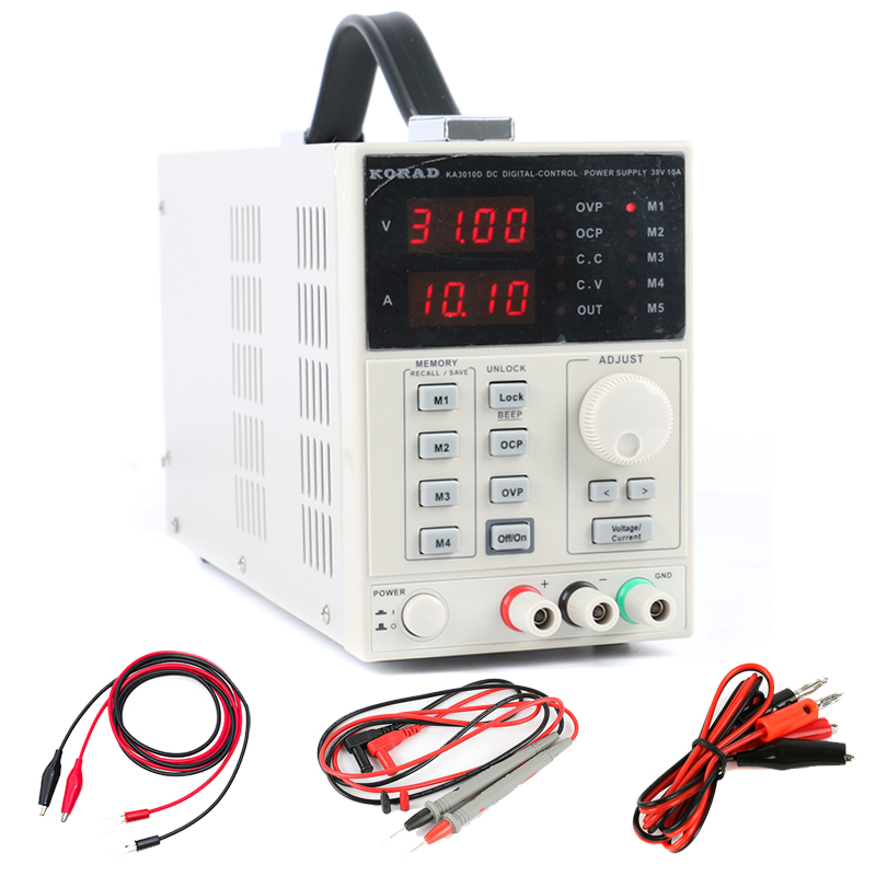 KA3010D Adjustable Digital Programmable DC Power Supply 30V 10A High Accuracy Laboratory Power Supply for Phone Repair dps5005 adjustable dc digital control power supply 12v24v high power mobile phone maintenance power suites dc depressurization m