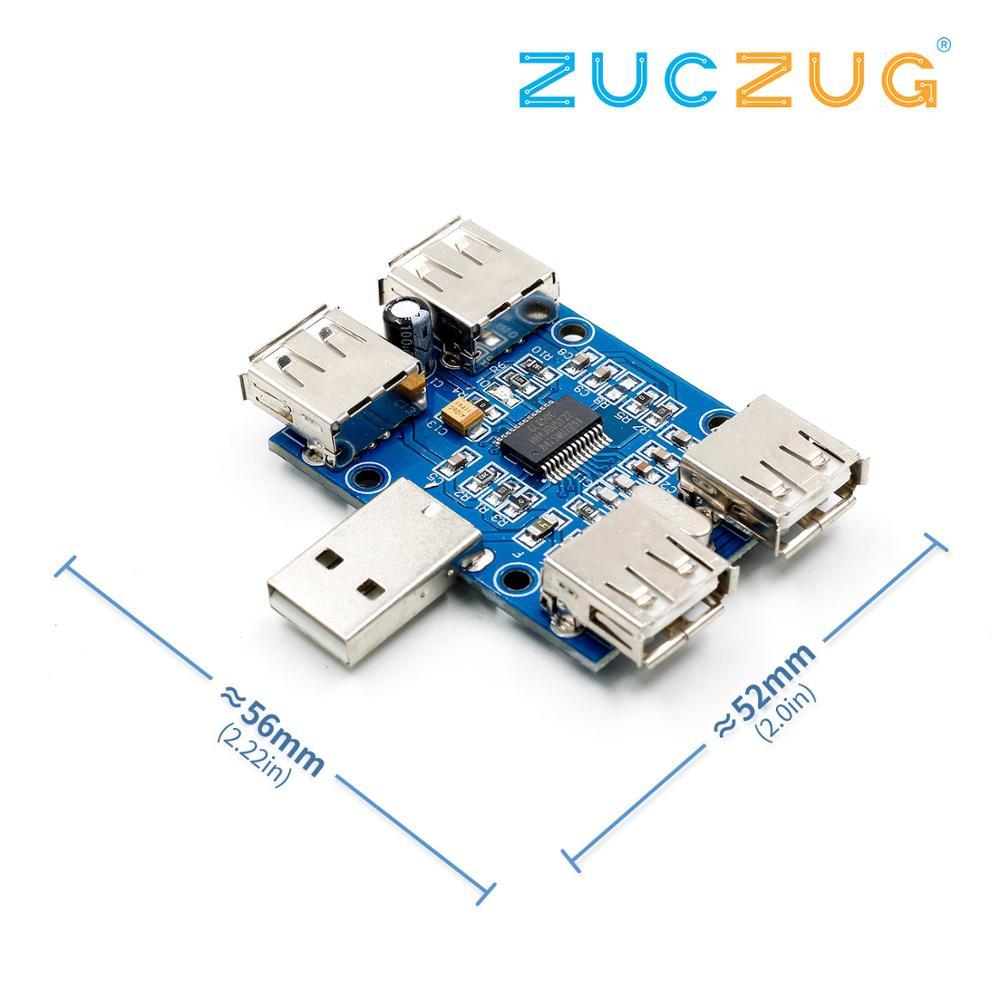 DC 5V USB HUB USB2.0 Hub Concentrator 4 Female USB Expansion Board Module Diy Electronic