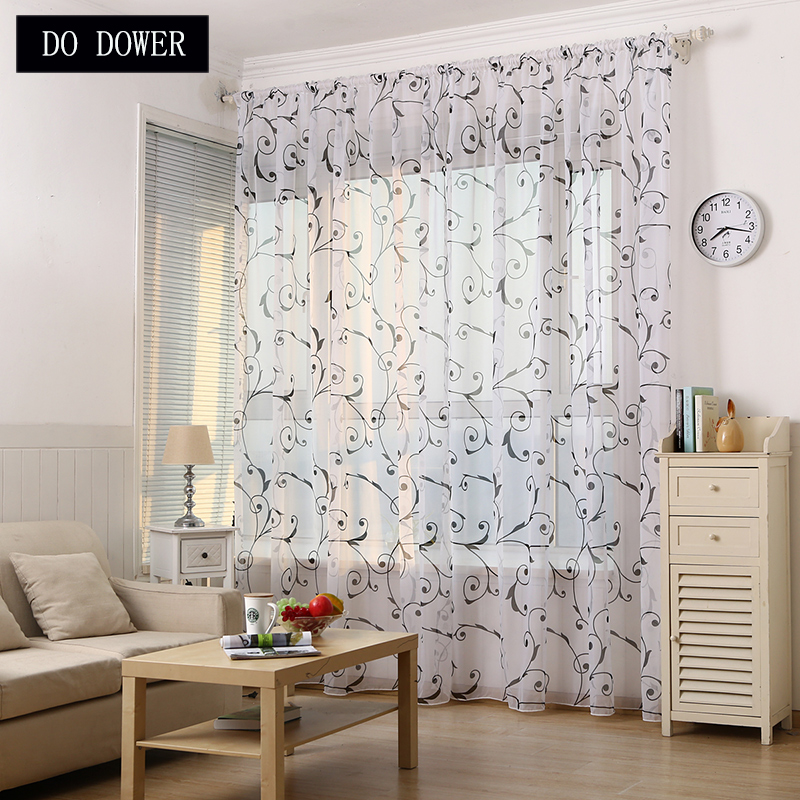 European style Window Curtains Sheer Voile Tulle for Bedroom Living Room Balcony Home decoration modern curtain tulle fabrics