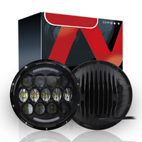 High Quality 2X Black 7inch 78W H4 LED Car Headlights Hi Low Beam DRL Light For