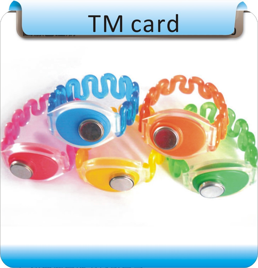 50pcs Ibutton Tm Card Wristband Non Magnetic Tm1990a-f5 Electronic Key Bracelet For Access Control Electronic Lock Grade Products According To Quality Security & Protection Ic/id Card