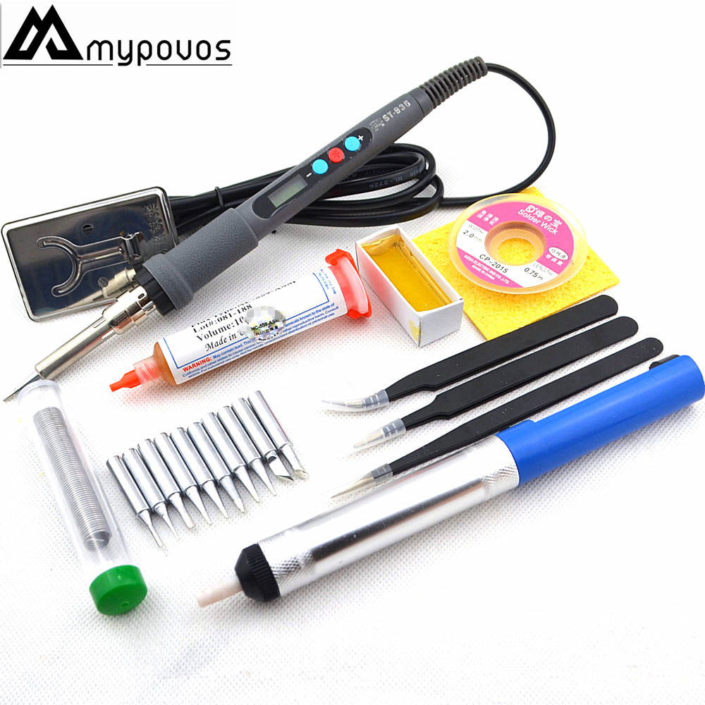 ST936 60W Electrical Soldering Iron Rework Welding Gun Tool LED Digital Adjustable Temperature Soldering Station 220V 110V
