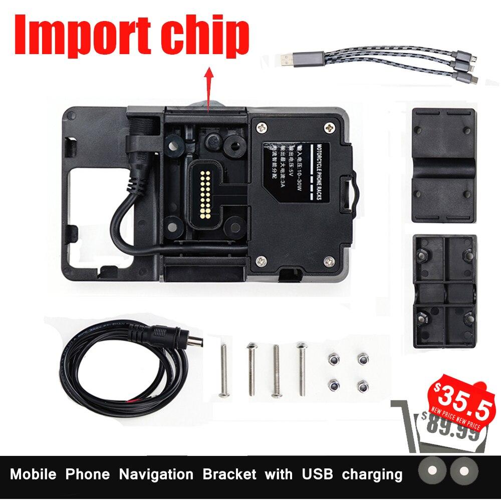 Pour BMW R1200GS support de Navigation pour téléphone portable ADV F700GS F800GS pour Honda Africa Twin CRF1000L USB charge 12 MM support
