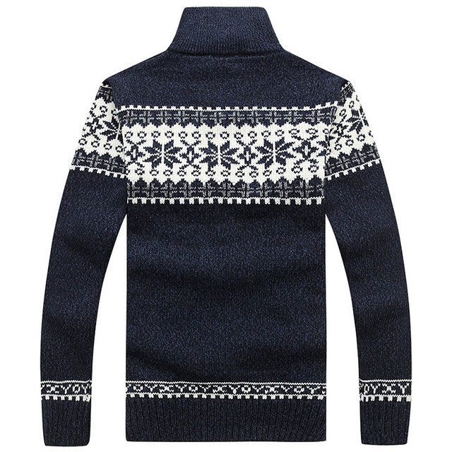2018 New Arrival Men's Cardigans Sweaters Winter Mens Casual Sweaters Warm Zipper Men Cardigan Stand Collar Knitted Sweater coat