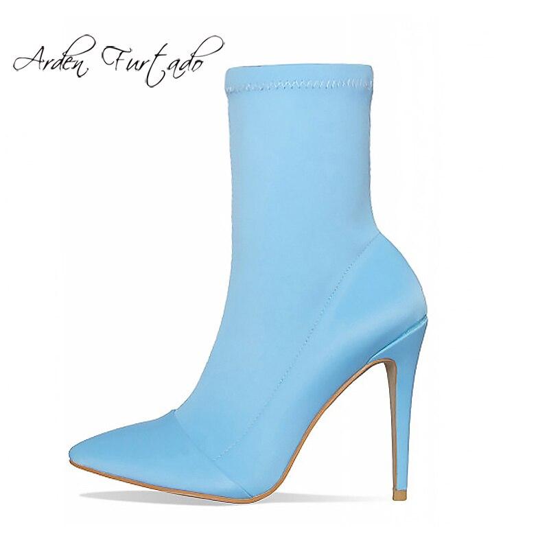 242462a88c5 Cm 11 Black Blue 2019 sky Zapatos Cielo Mujeres Azul Mujer Del La Gran  Tacón Dedo Las Botas Puntiagudo Los 41 brown De Primavera Pie Stilettos  Moda Elegante ...