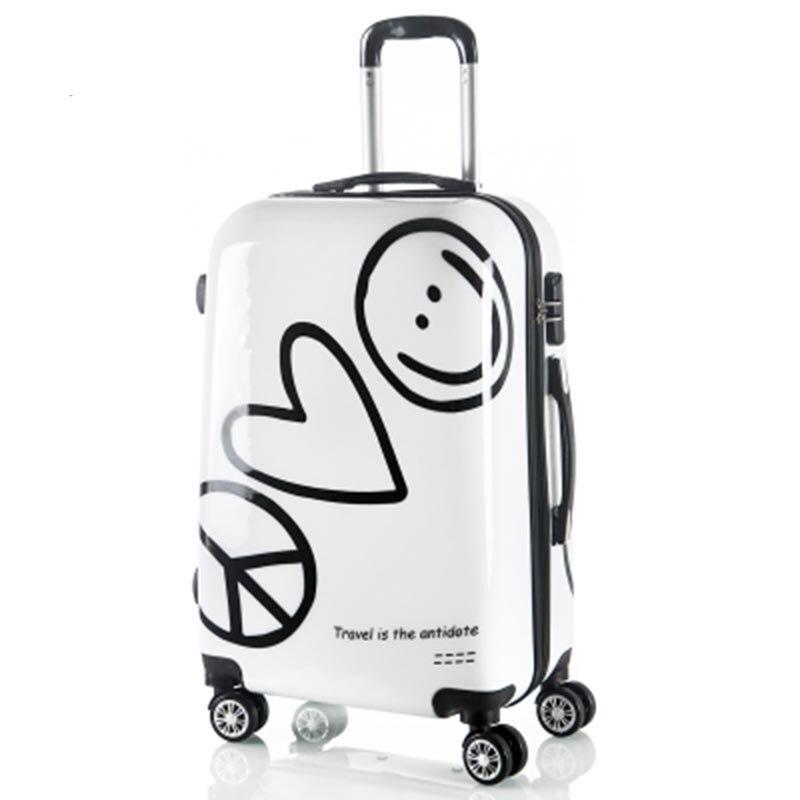 BeaSumore dessin animé mignon enfants roulant bagages Spinner Super héros valise roues étudiants mot de passe sac de voyage cabine chariot-in Bagages à roulettes from Baggages et sacs    2