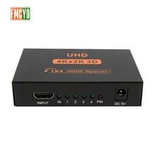 цена на HDMI Splitter KVM Switcher 4x1 1x4 Mini HDMI Port 4 Input 1 Output 4K Resolution Bi-Directional HDMI Switch Matrix Support 3D