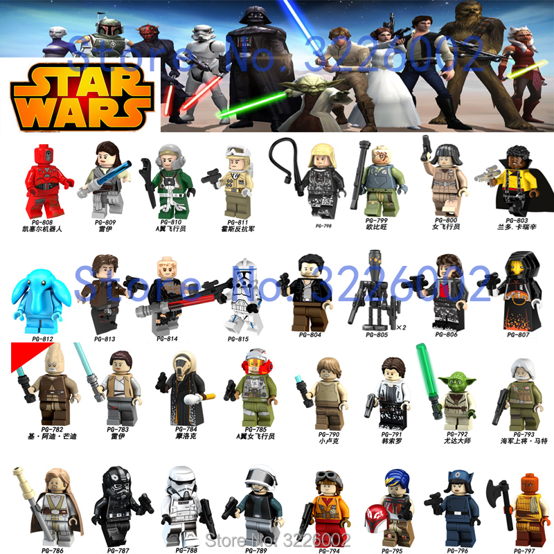 For hotsale star wars Rey The Last Jedi StarWars Darth vader Luke Stormtrooper Yoda Model Building Blocks Bricks Toys Figures legoelied star wars super heros marvel dc minifigures darth revan yoda deadpool batman v superman figures building blocks toys