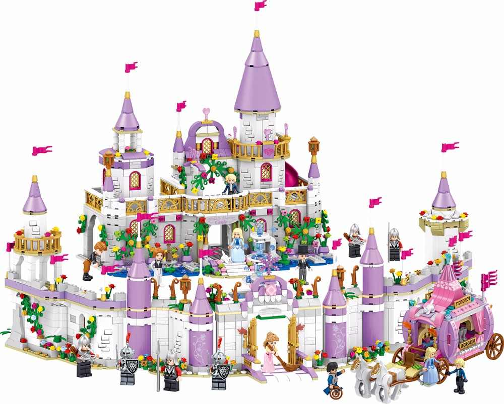 731pcs Romantic Castle Princess Friend Girl DIY Model Building Blocks For Children Sets Toys Compatible with Friends