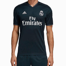 Real madrid 2018 2019 MAN Adidas black polyester Football Shirt soccer jerseys font b camiseta b