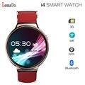 2017 Melhor! iqi lemado i4 smart watch phone android 5.1 os mtk6580 quad-core smartwatch suporte 3g wifi gps do relógio de pulso