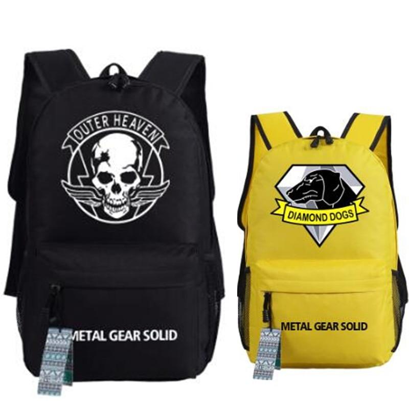 Diamond Dogs Metal Gear Solid V Logo Backpack Game Fans Fashion Shoulder Bag Rucksack Unisex Shoulder Bag Cosplay Gift